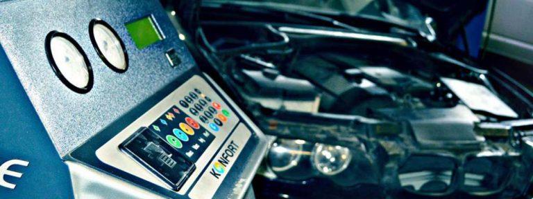 Заправка автомобильного кондиционера автоматической станцией