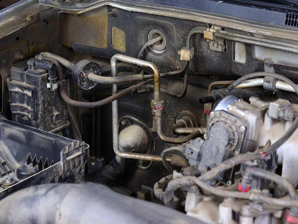 Переднее соединение трубок кондиционера Паджеро 4