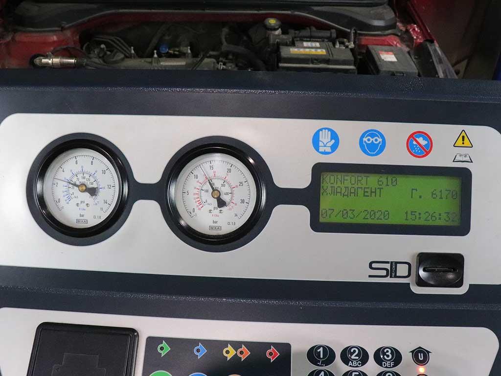 Заправка кондиционера Hyundai Solaris