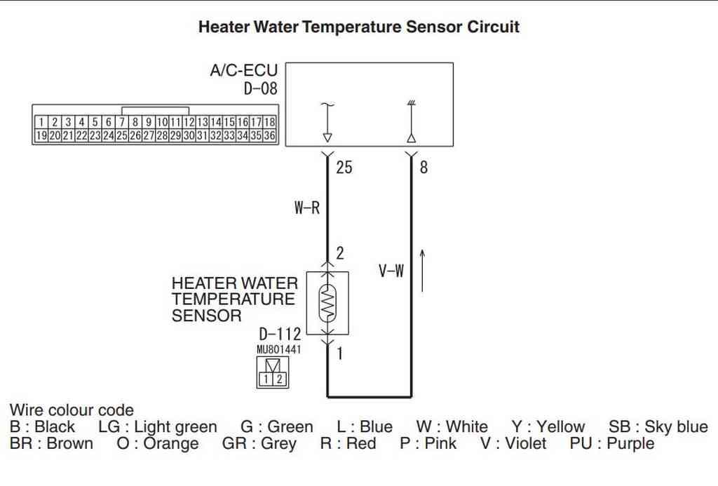 Схема датчик температуры антифриза в отопителе