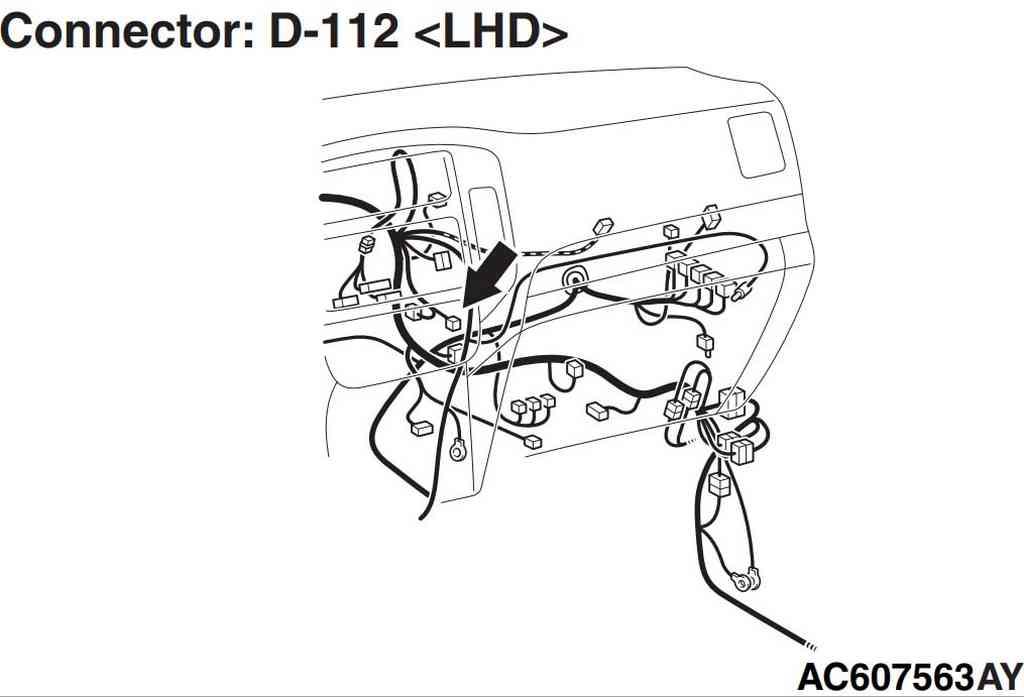 разъем D-112 левый руль